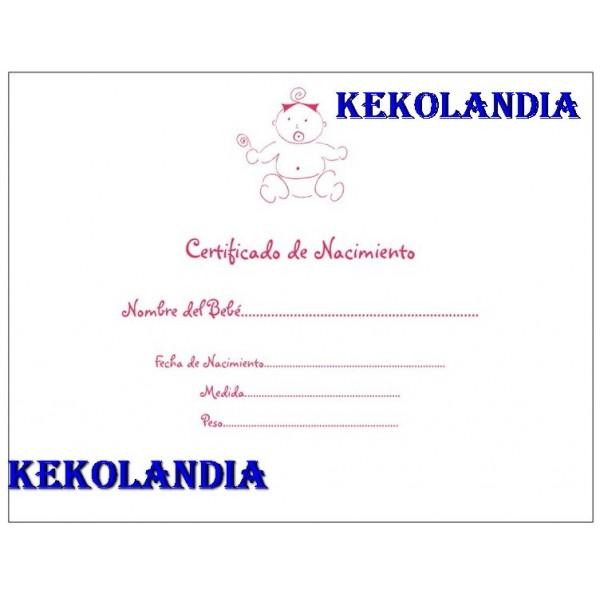 Certificado de nacimiento - Crea tu Bebe.com