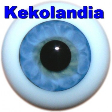 Ojos Cristal Bola  - Azul Claro