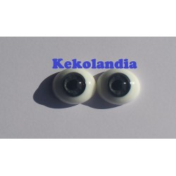 Oval Glass Eyes - Grey-22mm
