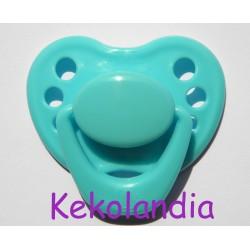 Chupete para bebé reborn - Azul turquesa