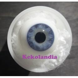 Ojos cristal bola Iris Normal - Azul claro