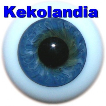 Ojos Cristal Bola  - Azul Oscuro