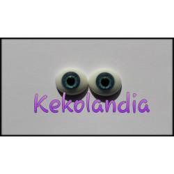 Ojos Cristal Ovalados  - Azul