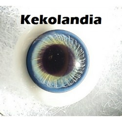 Ojos Cristal Bola  - Azul Oscuro -14 mm
