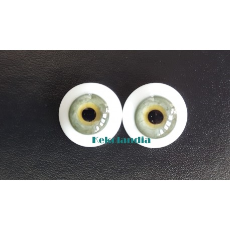Ojos Cristal-Verde-16mm