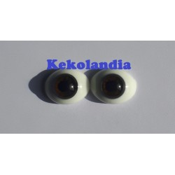 Oval Glass Eyes - Chocolate Brown- 18mm