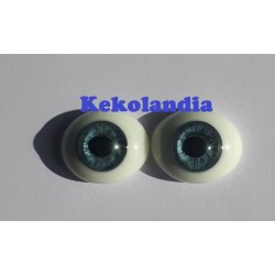 Oval Glass Eyes - Baby Blue - 18 mm