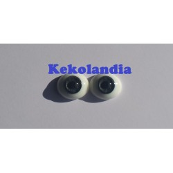 Oval Glass Eyes - Grey-20mm