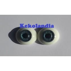 Ojos Cristal Ovalados - Azul - 20mm