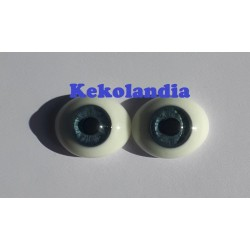 Oval Glass Eyes - Blue-20mm