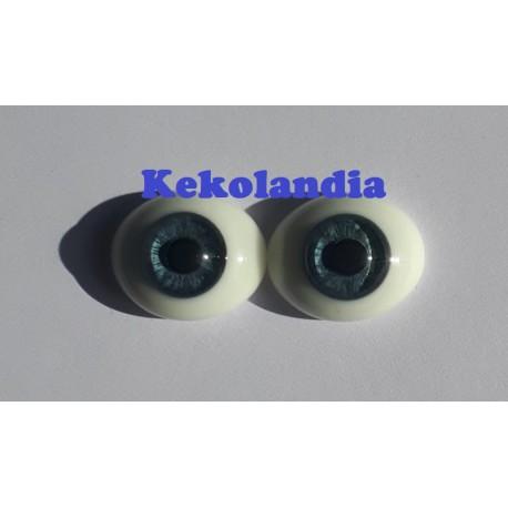 Oval Glass Eyes - Blue-20mm