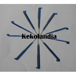 10 Felting Needles - 43 - 6 barb - Blue