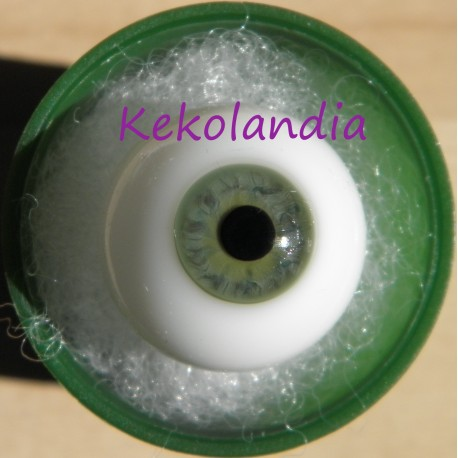Glass Eyes Ball - Smaller Iris - Grey Green