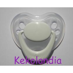 Chupete para bebé reborn - Blanco y Transparente