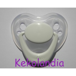 Pacifier Reborn Baby - White and Transparent