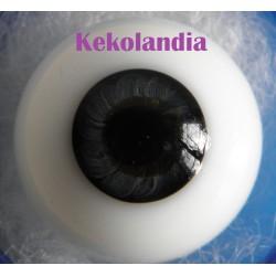 Ojos cristal bola Iris pequeño - Negro azulado 20 mm