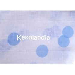 Gasa Bebé - Confetti - Azul