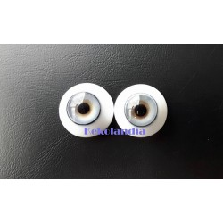 Glass Eyes-Blue Ice-24mm
