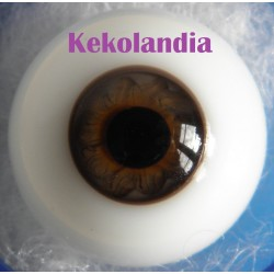 Ojos cristal bola Iris pequeño - Avellana - 18 mm