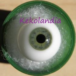 Ojos cristal bola Iris pequeño - Verde  Gris - 18 mm