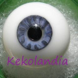 Glass Eyes Ball - Smaller Iris - Light Blue - 18 mm