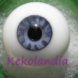 Ojos cristal bola Iris pequeño - Azul Claro - 18 mm