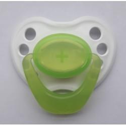 Chupete para bebé reborn - Blanco y verde