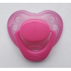 Pacifier Reborn Baby - Transparent fuchsia