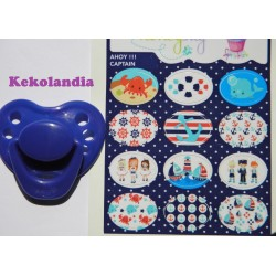 """Captain"" stickers pacifiers"