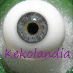 Glass Eyes Ball - Smaller Iris - Grey Blue - 22 mm