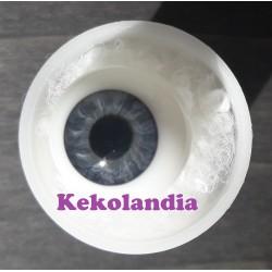 Ojos cristal bola Iris Normal - Azul Gris