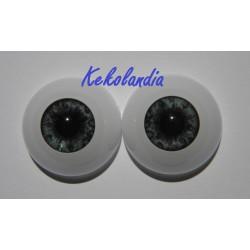 Ojos-Azul Oscuro - 22mm