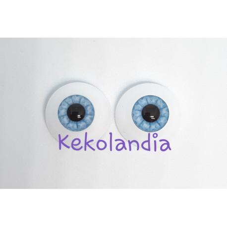Ojos- Azul Cielo - 20mm