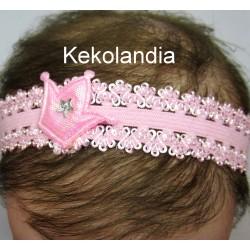 Diadema Kekolandia - Rosa con Corona - Modelo K25