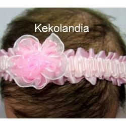 Diadema Kekolandia - Rosa con Flor - Modelo K27
