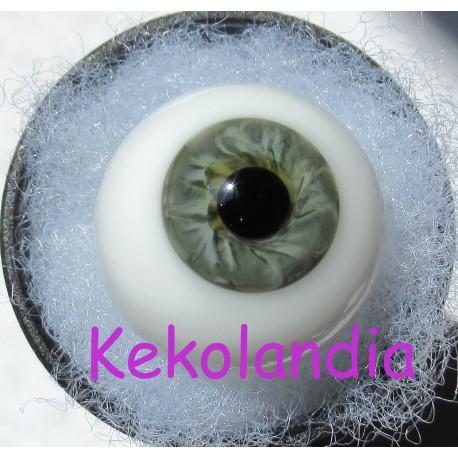 Ojos Cristal Bola  - Verde gris
