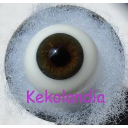 Ojos Cristal Bola  - Marrón
