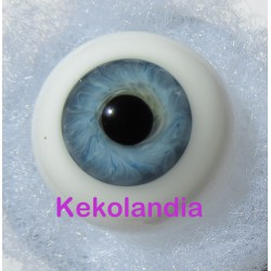Glass Eyes Ballon - Blue Grey