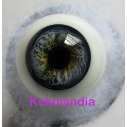 Ojos Cristal Bola  - Azul Medio