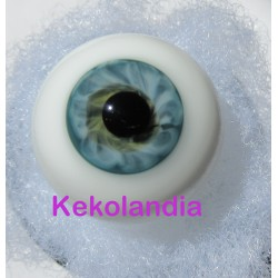 Ojos Cristal Bola  - Azul Verde