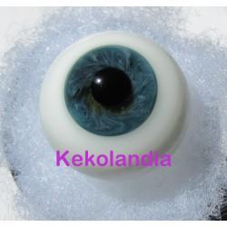 Ojos Cristal Bola  - Verde Azulado