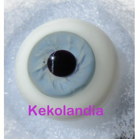 Ojos Cristal Bola  - Azul Hielo