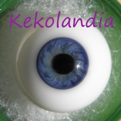 Glass Eyes Ball - Smaller Iris - Blue - 24 mm