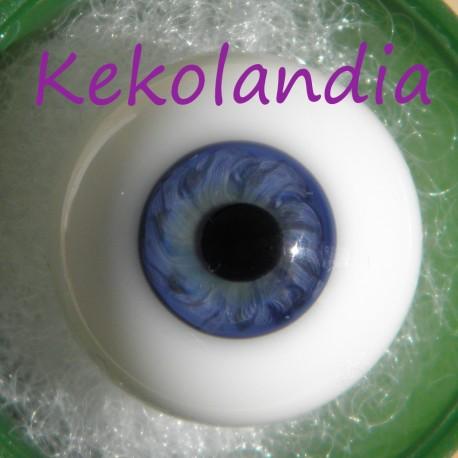 Ojos cristal bola Iris pequeño - Azul