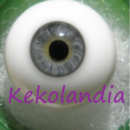 Glass Eyes Ball - Smaller Iris - Grey Blue