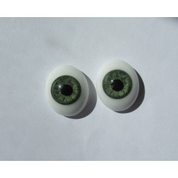 Oval Glass Eyes - Grey- 18 mm