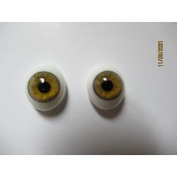 Oval Glass Eyes - Hazel-12mm