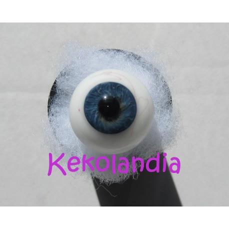 Ojos Cristal Bola con venas - Azul muy oscuro