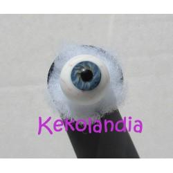 Ojos Cristal Bola con venas  - Azul