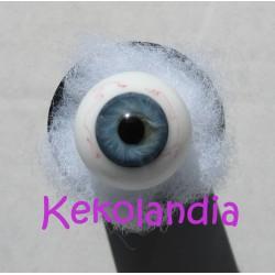Ojos Cristal Bola  con venas - Azul Gris
